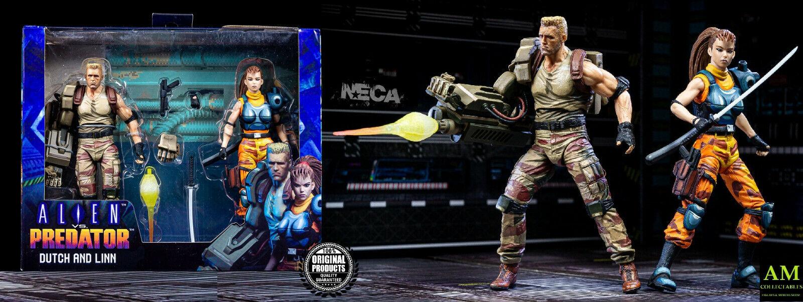 Neca-alien vs predator 1994 arcade appearance-Dutch and linn - 2 pack