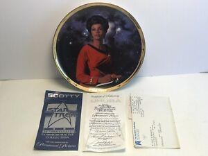 Vintage 1991 Star Trek 25th Anniversary Uhura Colletors Plate COA Hamilton Mint