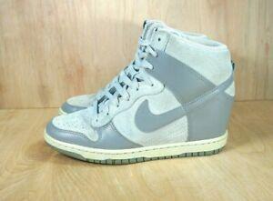 trampki Nowa kolekcja szalona cena Details about Nike Dunk Sky Hi Wedge Basketball Shoes Gray Leather 528899  005 Womens Sz 8