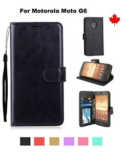 For-Motorola-Moto-G6-Wallet-stand-Leather-Flip-Credit-Card-Slots-Case-Cover