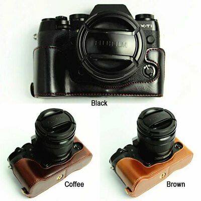 Leather Half Case Grip hand strap for FUJIFILM FUJI X-T1 XT1 Camera