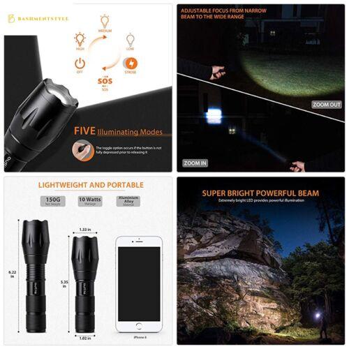 Outlite Portable A100 ultra lumineuse de poche DEL Lampe de poche avec réglable Focus