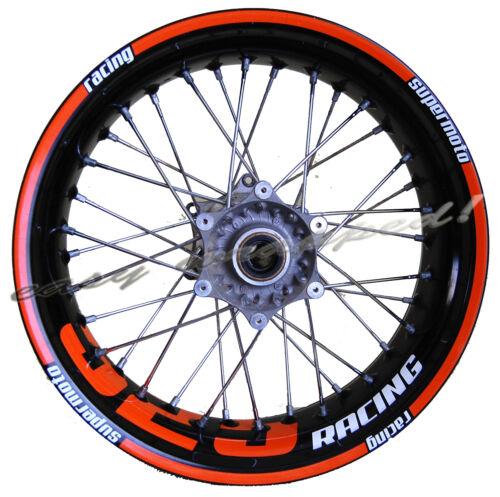 wheel sticker decal easy-wrapped Felgenaufkleber KTM 525 racing Supermoto
