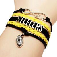 Retro Dallas Cowboys Football Fans NFL Infinity Love Bracelet Sport Charm Bangle