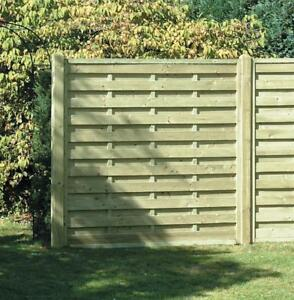 Details about Square Horizontal Decorative Fence Panel 6ft x 6ft Pressure  Treated