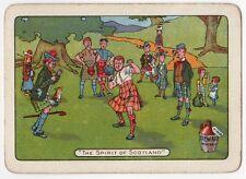 Playing Cards 1 Swap Card Vintage Wide DEWAR Whisky SPIRIT OF SCOTLAND Shot Putt