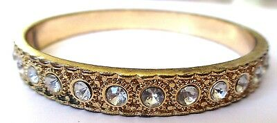 Acquista A Buon Mercato Bracelet Rigide Couleur Or Tour Complet Serti Cristaux Diamant Bijou Vintage 433