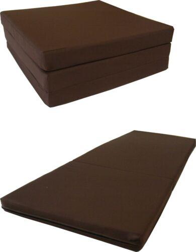 Shikibuton Trifold Foam Beds 1.8 lbs Density Portable Mats 3x27x75 Brown