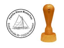 Stempel « SEGELYACHT » Adressenstempel Motivstempel Kapitän Seefahrt Schiff Boot