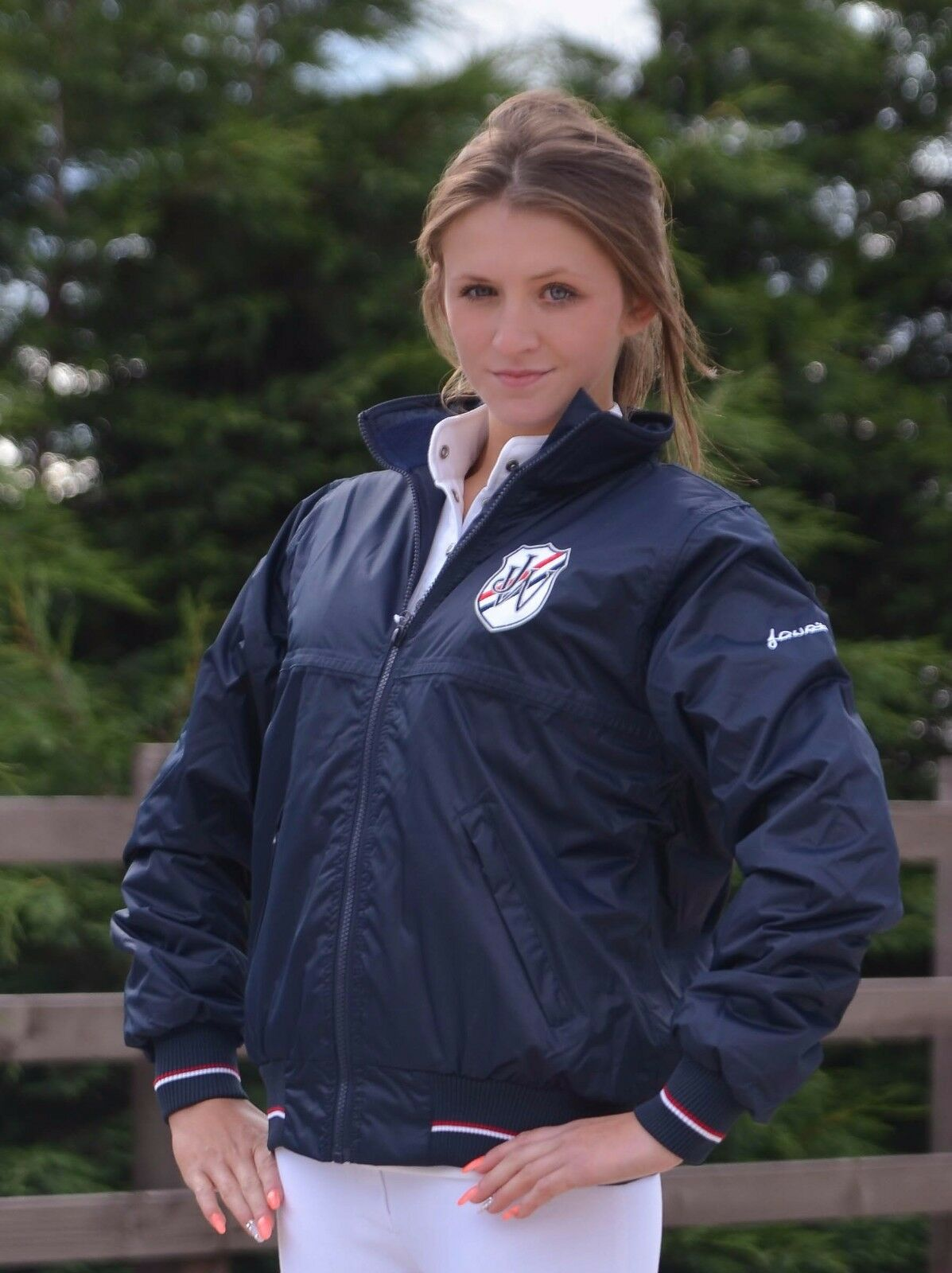 John  Whitaker Crest Blouson Jacket Navy azul  Envío 100% gratuito