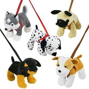 Dog On A Lead Plush Soft Toy Puppy Toys
