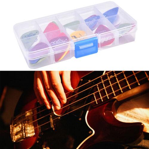 24X Akustikgitarre Plektren Plektren mit Pick Case Verschiedene 6 Dicken HK