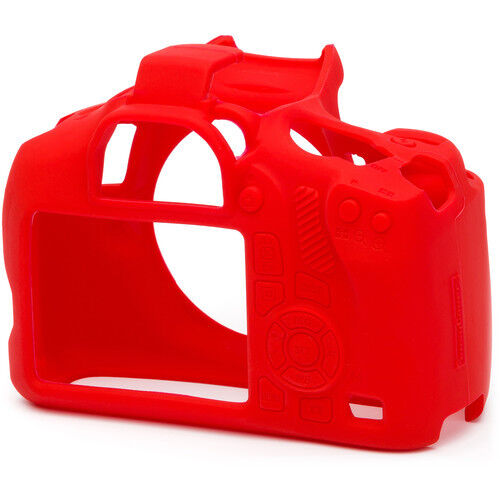 easyCover Protective Silicon Skin - Camera Cover for Canon EOS T6 1300D (Red)