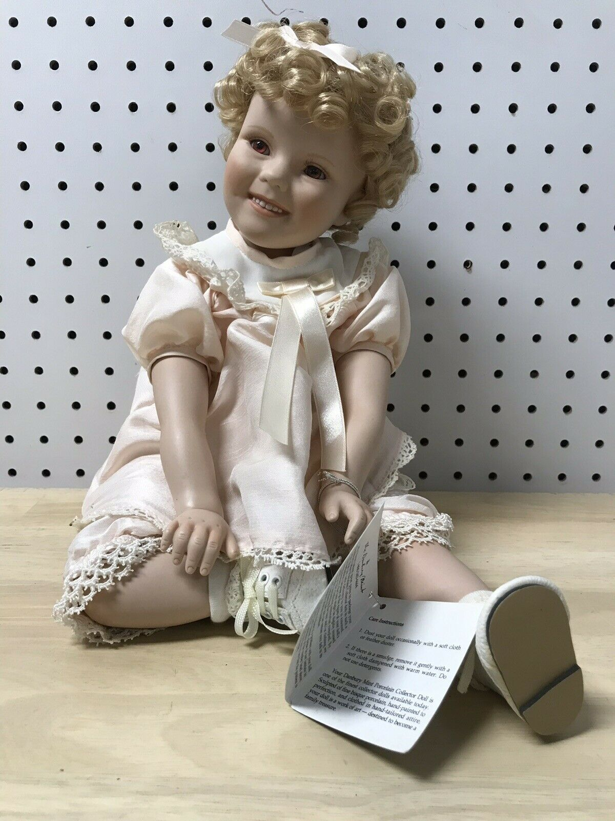 Little Miss Shirley Muñeca Darby Menta 1997 Fina Porcelana Muñeca con Caja Original