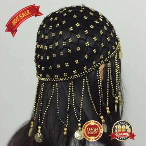 Hand made Beaded Headpiece Headwear Cap Hat Fancy Dress Costume for girl women