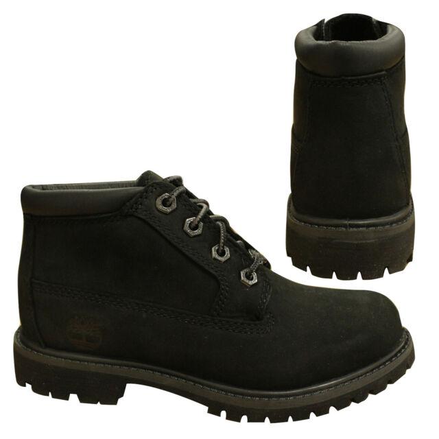Timberland Nellie Chukka Black Nubuck Boots Size 7