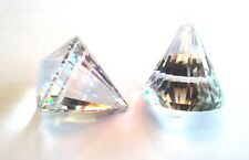 (10 PIECES) Faceted CRYSTAL Pyramid for Fengshui / Car / Window - 40 MM