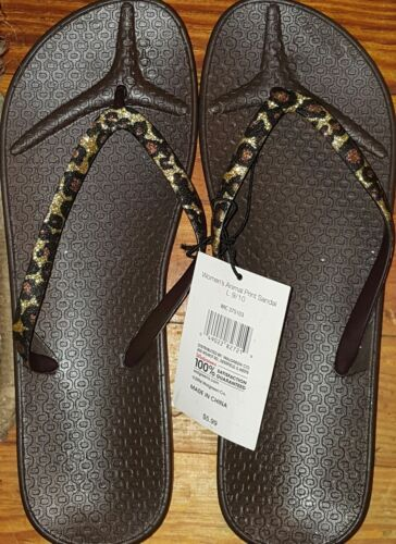 New Details about  /Westloop Woman/'s Animal Print Sandals Large 9-10