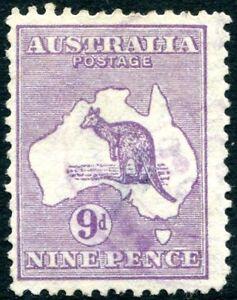 Australie - 1929-30 9d Violet Sg 108 Bon D'occasion V27727--30 9d Violet Sg 108 Good Used V27727afficher Le Titre D'origine
