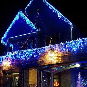 led lichterkette lichtervorhang au en innen weihnachten beleuchtung eisregen deu ebay. Black Bedroom Furniture Sets. Home Design Ideas