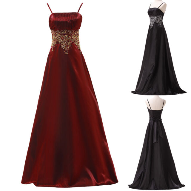 Elegant Vintage Evening Formal Party Ball Gown Prom Retro Bridesmaid Long Dress