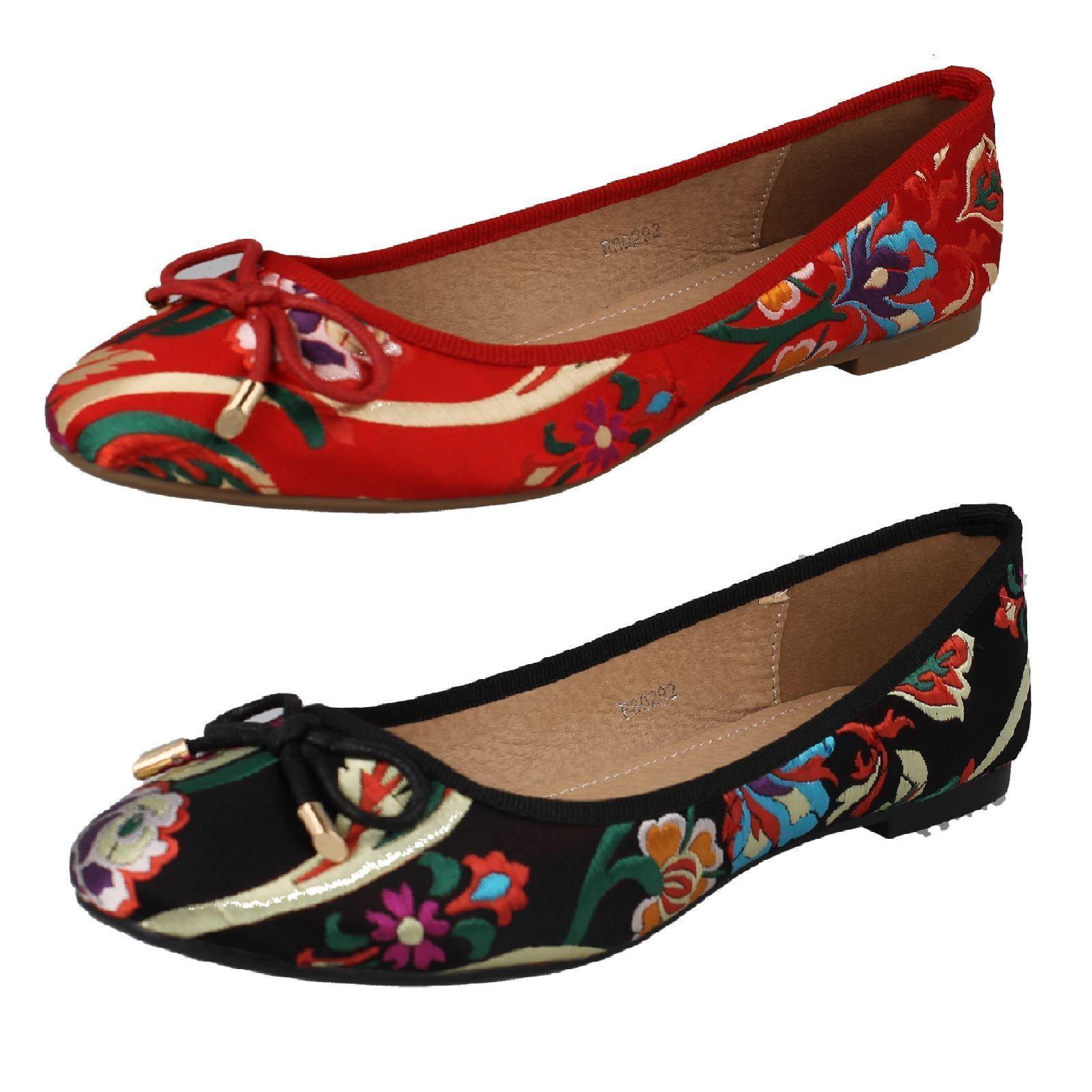 Spot  On f8r864 Mujer Tostado  Zapatos  Spot Bailarinas GB 3A 8 (r41a) J-K b9b13d