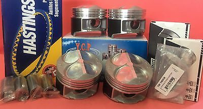 YCP B16B B18C 81.5mm JDM High Comp. Pistons + Rings + Bearings Acura GSR Type R