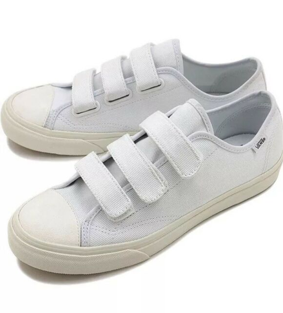 85d648cc59 New Vans Mens 13 Womens 14.5 Prison Issue Twill True White Blanc Canvas  Sneakers