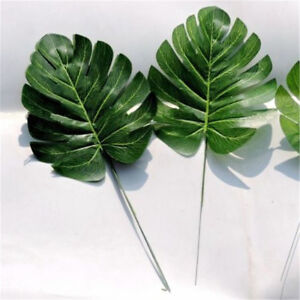 Artificial-Branch-Monstera-Palm-Fern-Turtle-Leaf-Plant-Tree-Foliage-Green-Garden
