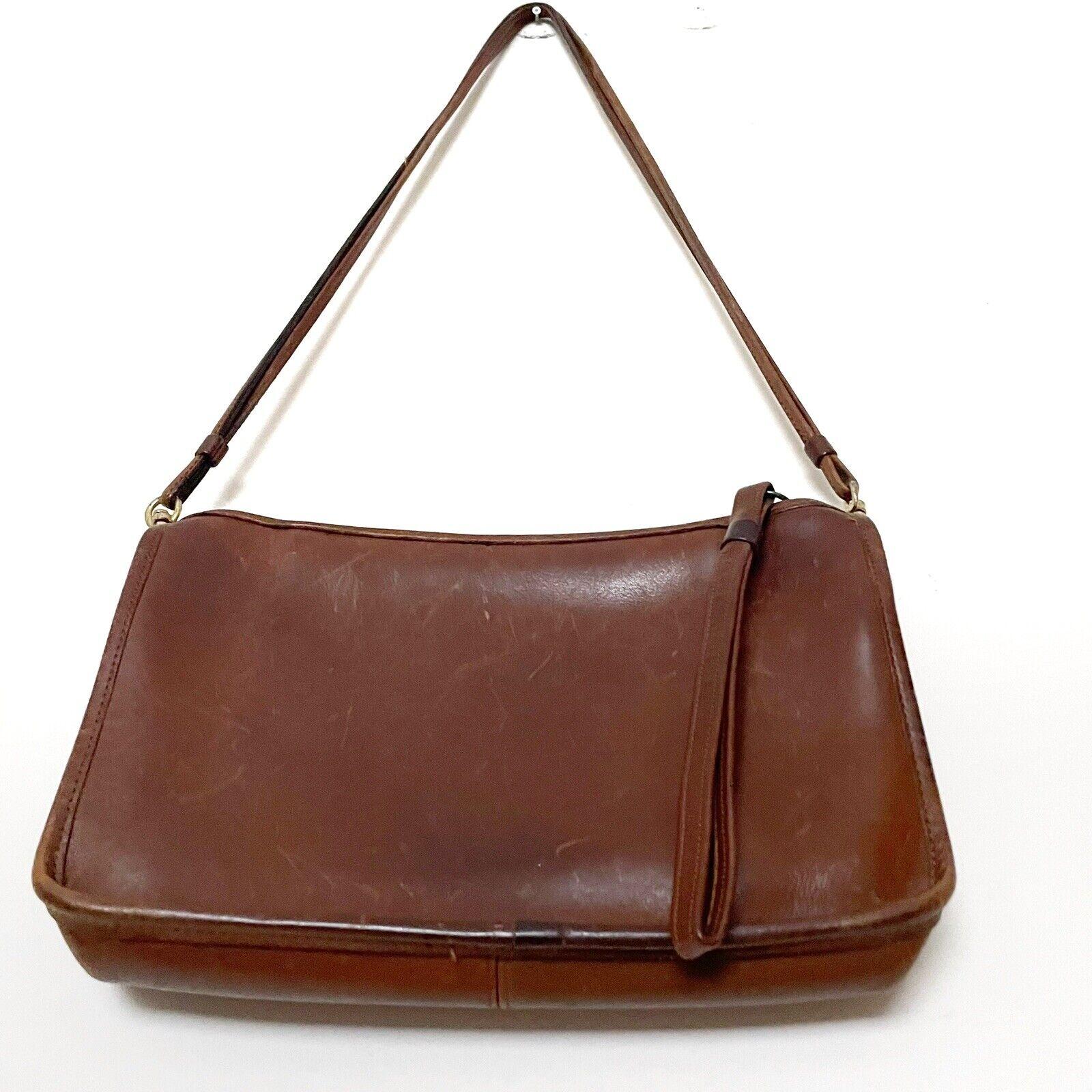 COACH Vintage Bonnie Cashin Brown Leather Shoulde… - image 6