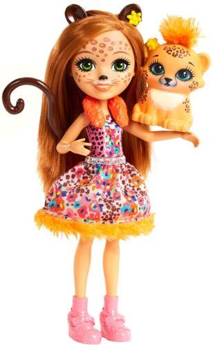 Enchantimals Bambola Cherish Il Ghepardo con Amico Cucciolo Playset per Bambi...