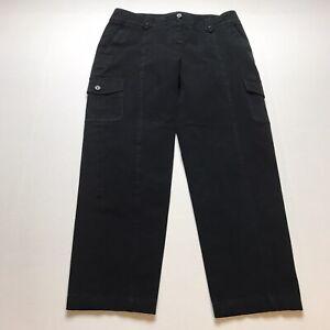 Talbots-Signature-Fit-Black-Crop-Capri-Pants-Size-6-24-Inseam-A1435