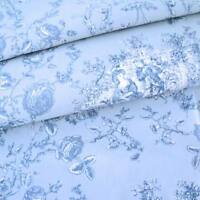 PRINCESS 1 BLUE / BLUE - MAS D'OUSVAN FRENCH TOILE 100%  COTTON FABRIC
