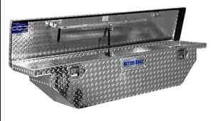 Truck-Bed-Tool-Box-61-inch-Storage-Aluminum-Mid-Size-Low-Profile-Wedge-Slimline