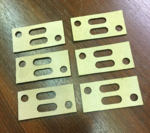 6 Leather Gaskets for Wurlitzer Player Piano Unit Valves New