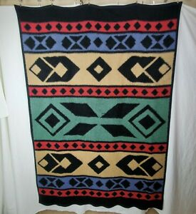 Biederlack-of-America-Throw-Blanket-Southwest-Native-Acrylic-Blend-Vintage-56x80