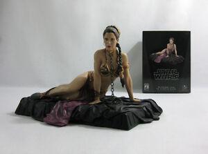 2007 Vintage Star Wars ✧ Leia/esclave ✧ Gentle Giant Rotj Statue Boxed-afficher Le Titre D'origine Handicap Structurel