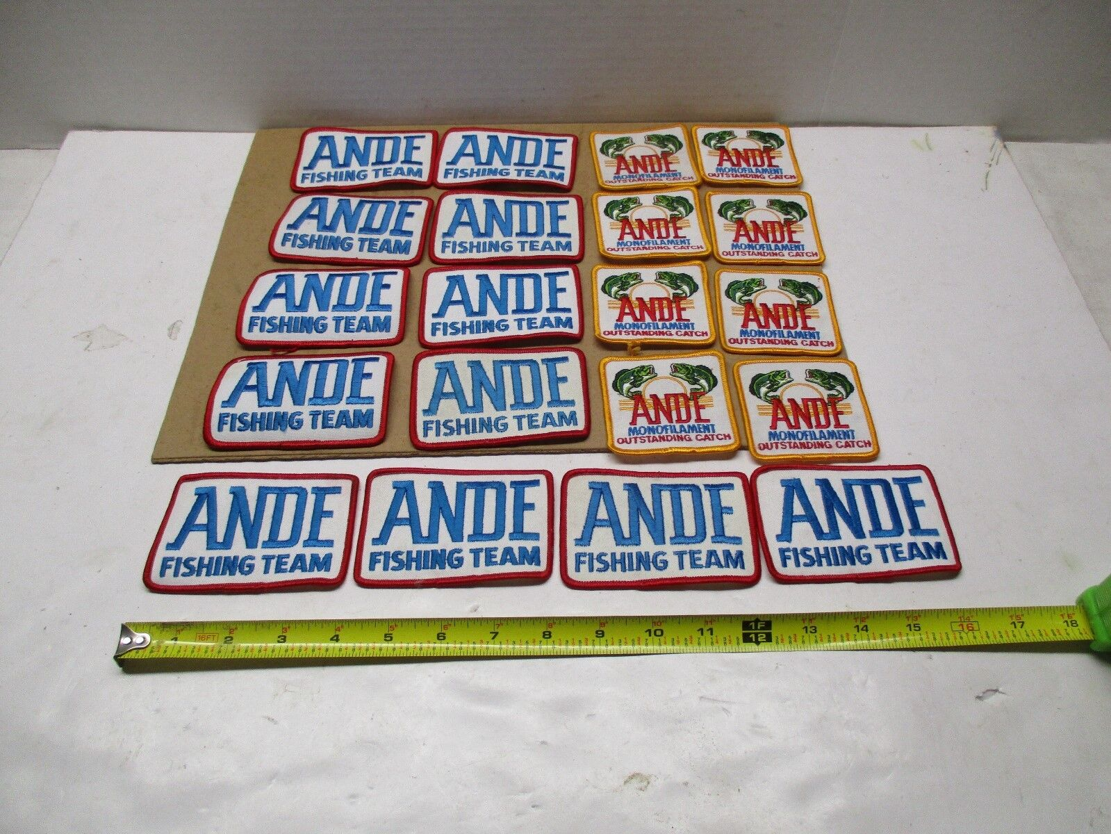 ANDE FISHING TEAM EMBROIDERED SEW ON PATCH TOTAL OF 20 PATCHS MUST SEE