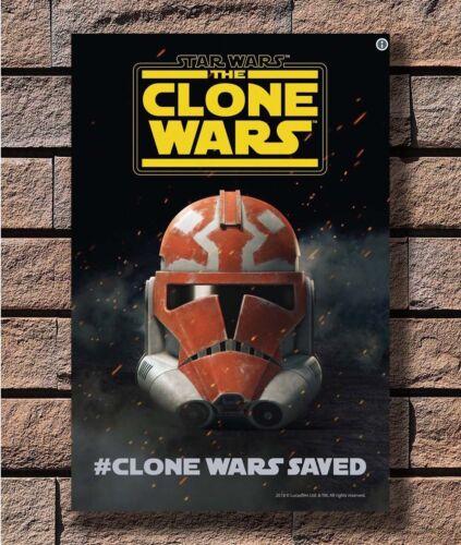Art Poster 24x36 27x40 Star Wars The Clone Wars Movie 2019 Season 7 Saved T-2663