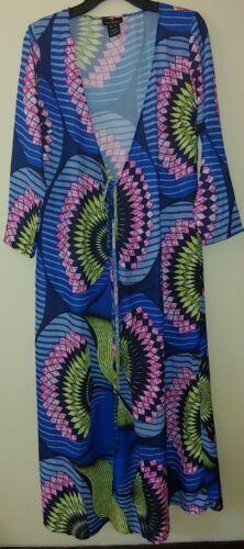 D'Iyanu African print Longline Shirt Cover-Up Kimo