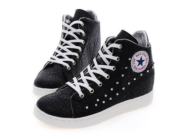 MAX femmes Wedges chaussures Ankle bottes Korea Fashion Platforms Lace up Turnchaussures Zip