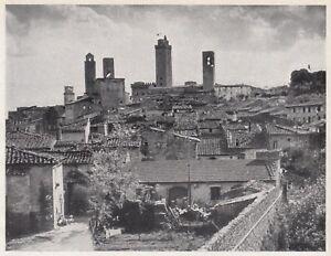 D7601 Città di San Gimignano - Scorcio caratteristico - Stampa - 1937 old print - Italia - D7601 Città di San Gimignano - Scorcio caratteristico - Stampa - 1937 old print - Italia