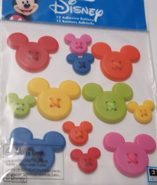 EK SUCCESS DISNEY MICKEY ICON Mouse Ears Flatbacks Craft Scrapbook Sticker