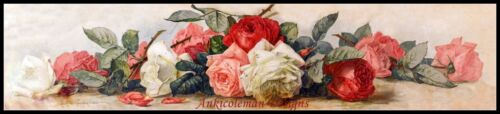 DIY Chart Counted Cross Stitch Patterns Needlework for embroidery Roses