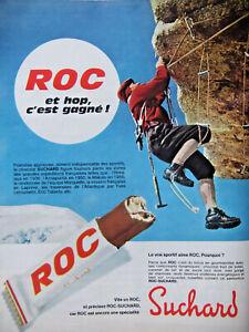 PUBLICITE-PRESSE-1966-ROC-CHOCOLAT-SUCHARD-POUR-SPORTIF-ESCALADE-ADVERTISING