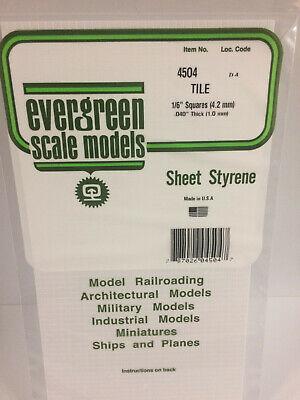 """do pacote de 4 item #273 Evergreen modelos de escala estireno I-beam .100 14/"""" de comprimento 2.5mm"""