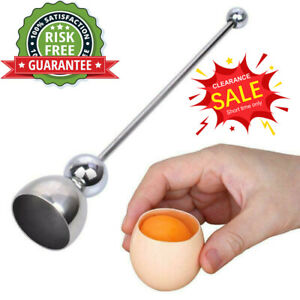 Hot Stainless Steel Egg Shell Opener Topper Cutter Cracker Knocker Kitchen Cook