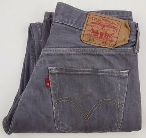 Levis-501-Jeans-31x30-Gray-Button-Fly-Jean-Denim-Cotton-Mexico-Straight-Fit-Size