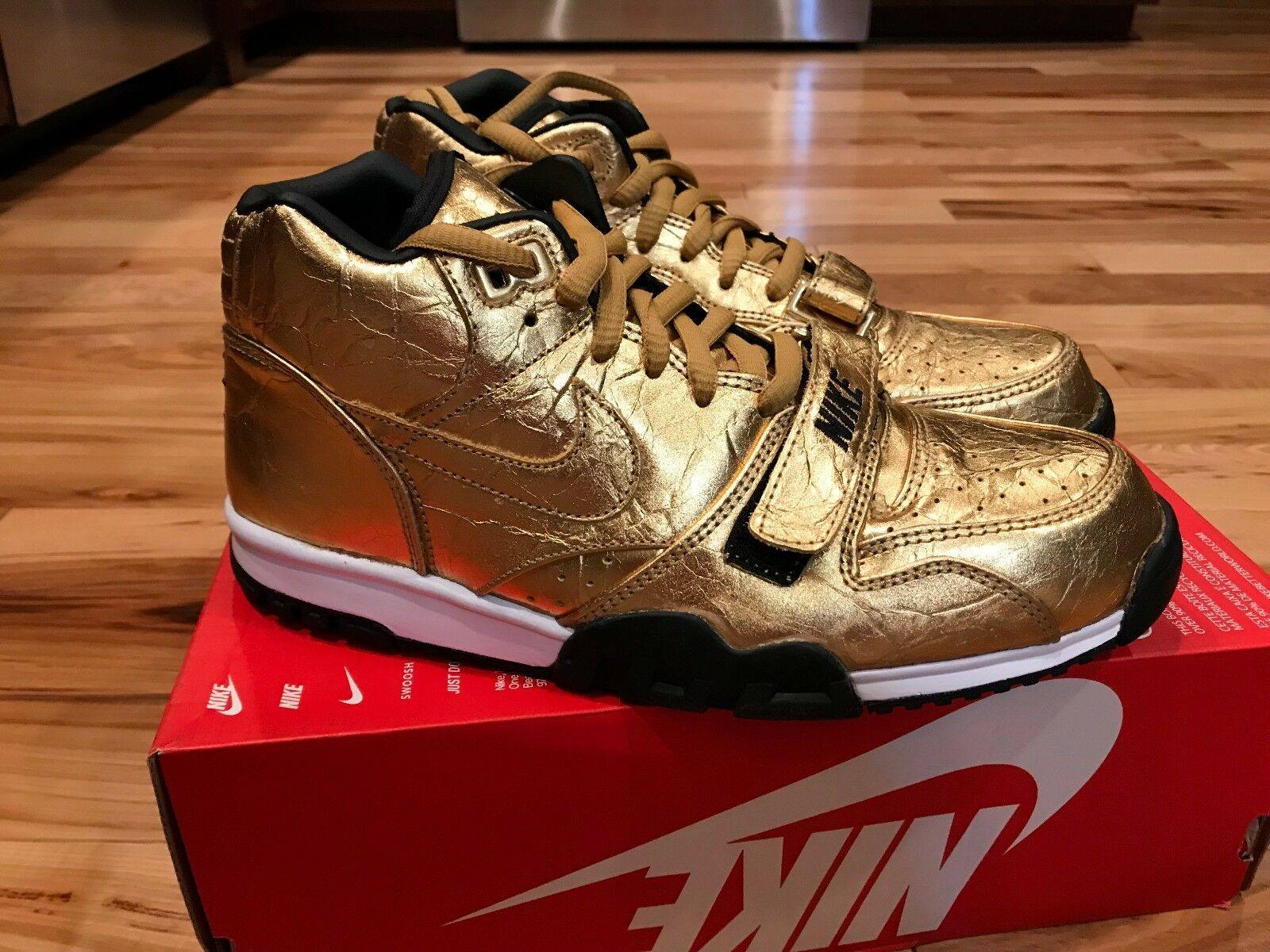Nike air - 1 sonodiventate qs (nfl) super bowl 50 d'oro 840169-700 uomo