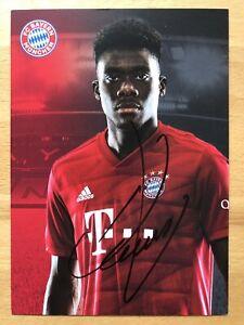Alphonso-Davies-Ak-FC-Bayern-De-Munich-2019-20-Carte-Autographe-Original-Signe